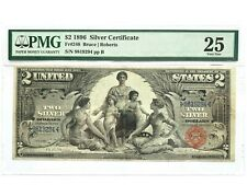 1896 $2 Educational Silver Certificate Note - Graded PMG 25 Very Fine - Fr. 248