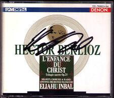 Eliahu INBAL Signiert BERLIOZ L'Enfance du Christ DENON 2CD Margarita Zimmermann