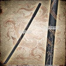 "2 Pcs 37.5"" Dragon Engraved Datio Bokken Wooden Katana Samurai Practice Sword"