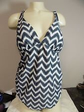 WOMENS LIZ LANGE MATERNITY ONE PIECE SWIMSUIT SZ LARGE L