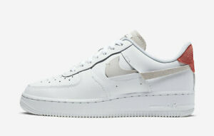 Nike Air Force 1 07 Lux Inside Out Women's White Blue Red 898889 103 Sizes 6.5-9