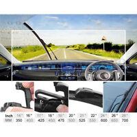 2pcs Black 24'' + 18'' Universal Car Window Windshield Wiper Blade Bracketless