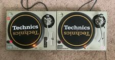Technics White & Gold Dj Slipmats sl1200's mk5 m3d m5g or any turntable *Pair