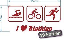 Triathlon 3 schwimmen radfahren laufen Sport IronMan Aufkleber Sticker #7885