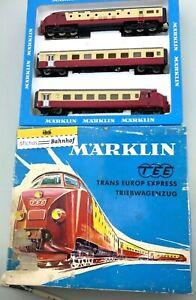 Märklin 3071 TEE mit Riss im Gehäuse fährt aber und im Originalkarton H0 1:87 å
