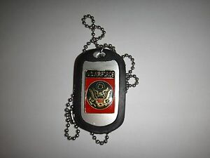 US AIR FORCE Raised Insignia Stainless Steel Dog Tag + Ball Chain Nice