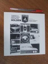 1969 Holden HT range original small format 16 page brochure - Rare