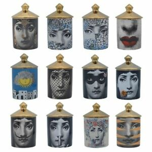 Home Decor Fornasetti Style Candle Holder Face Vintage Ceramic Jar Art Jars New