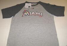 Miami Marlins Major League Baseball Team Lt/Dk Gray T-Shirt New Nwt Youth Medium