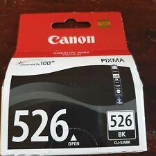 BNIB Canon 526 BK Black ink cartridge GENUINE ITEM 1 ITEM