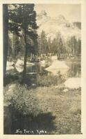 Big Twin Lake 1920s Mono County California RPPC real photo postcard 438