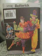 Butterick  Pattern 3598  Unisex Jumpsuit & Skirt Clown Dance Costume XS-M. Uncut