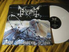 MAYHEM grand declaration of war WHITE VINYL LP