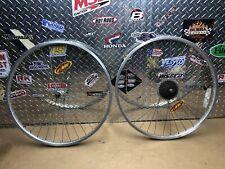 """Vintage Bicycle Araya Wheelset 26"""" Wheels Shimano Hubs 7 Speed Skewers 26X1.50"""