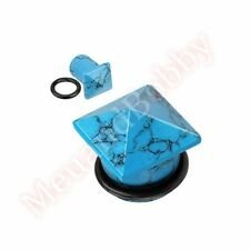 Unbranded Turquoise Ear Tunnel/Plug Body Piercing Jewellery