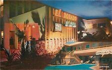 1950s Night Neon El Dorado Motel Apartments San Diego California pool 2201