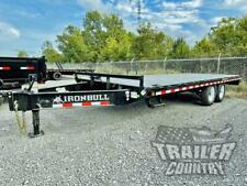 New 2022 8 X 20 14k Heavy Duty Deck Over Steel Flat Deck Equipment Trailer Ramps