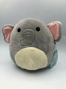 Squishmallows Kellytoy Mila The Elephant Grey Plush Soft Stuffed Toy Animal