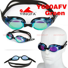 2019 NEW YINGFA Y680AFV GREEN SWIMMING GOGGLES ANTI-FOG UV PROTECTION FREE SHIP!