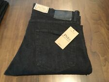 NWT Polo Ralph Lauren 32 x 30 Prospect Straight Stretch Black Denim Jeans