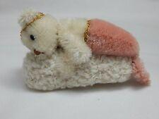 "World of Miniature Bears 4"" Mohair Bear Shrimp Roll #1143 Collectible Bear"