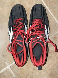 Reebok Mens Size 13 Zignano Basketball Sneakers Shoes Black Red White EUC!