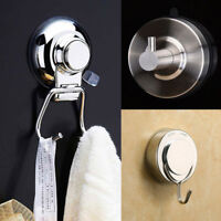 Vacuum Suction Cup Sucker Shower Towel Bathroom Kitchen Wall Hook Hanger Holder