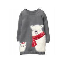 Gymboree  Polar Bear Gray Sweater Dress 5T NWT
