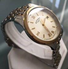 Men's Genuine Rotary Slim Dress Watch Gold  Date Champagne Classic Roman GB00793