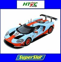 SUPERSLOT FORD GT GTE #19 GULF EDITION SCALEXTRIC UK H4034