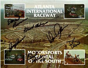 1980's NASCAR original hand signed autographed Atlanta Speedway photo