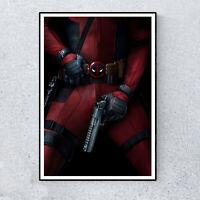 Marvel Deadpool Wade Wilson Comedy Film Movie Glossy Print Wall Art A4 Poster