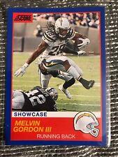 2019 Score NFL Melvin Gordon III Showcase Blue Parallel #23 #d 97/100 Chargers