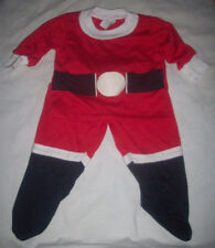 vintage baby 2pc Christmas Santa outfit suit red white black infant 1B sears