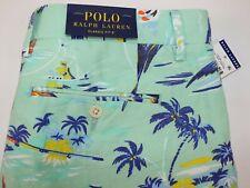 NWT $89 RALPH LAUREN Size 32 Men's Green Linen Blend HAWAIIAN Classic FIT Short