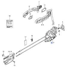 Genuine Suzuki SWIFT 05-11 5 DOOR Latch Lock Mechanism REAR RIGHT 82301-62J23