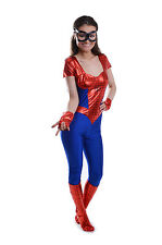 WOMENS LADIES SEXY SPIDER GIRL WOMAN COSTUME FANCY DRESS PARTY SUPERHERO HERO