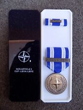 GENUINE NATO MEDAL FOR LIBYA / LIBYE IN NAMED BOX OF ISSUE - EXCELLENT CONDITION