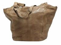Greenburry Stainwashed Leder Shopper Damentasche Handtasche Tasche brown