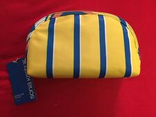 Sonia Kashuk Double-Zip Clutch in Plaid (Yellow)-NWT-$16 Retail-FS!