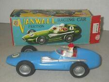 MARX BLUE VANWALL Vandervell RACING CAR HARD PLASTIC FRICTION CAR ORIGINAL BOX