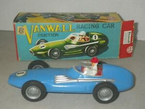 MARX BLUE VANWALL Vandervell RACING CAR HARD PLASTIC FRICTION CAR ORIGINAL BOX