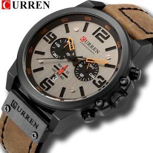CURREN Top Brand Luxury Quartz Wristwatches Leather Military Watch Relogio Gift