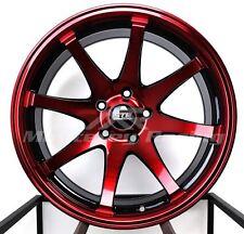 18X9 5x108 STR 903 BLACK AND RED FORD JAGUAR VOLVO