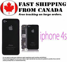 Replacement For iPhone 4S Black Back Glass Battery Cover Housing Glass Brand New