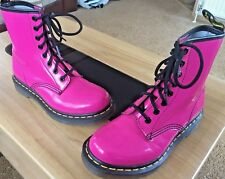 Dr Martens 1460 hot pink patent leather boots UK 3 EU 36