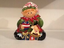 Holiday Christmas Painted Metal Toymaker Candle Tin Home Interiors Gifts Gtc