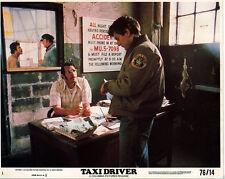 TAXI DRIVER photo ROBERT DE NIRO/JOE SPINELL original 1976 color lobby still