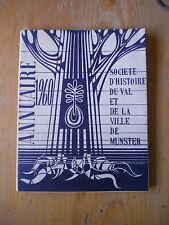Munster annuaire 1960, Société d'histoire du val et de la ville de Munster