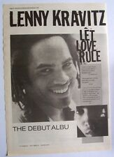 LENNY KRAVITZ 1989 original POSTER ADVERT LET LOVE RULE